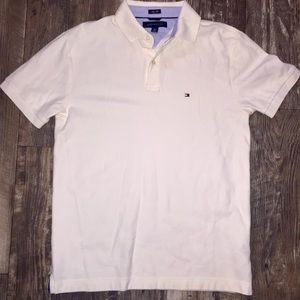 Tommy Hilfiger cream color polo very clean